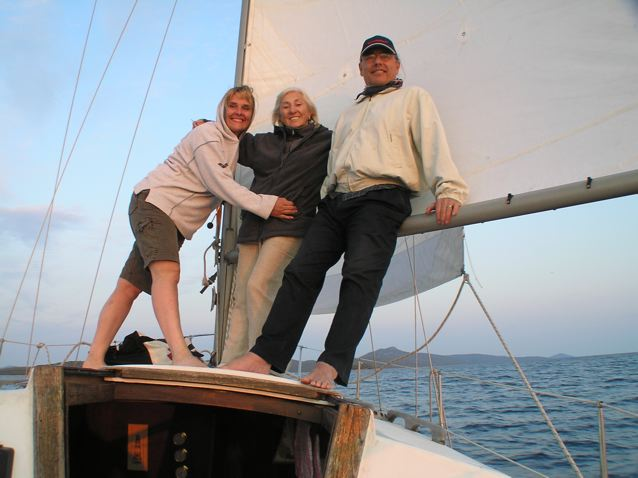 Darja, Linda and Roland headed south in the Adriatic Sea toward Telascica National Park