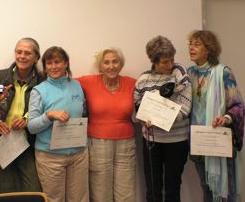 Teresa Cottarelli-Guenter, Maya Conochi, LTJK, Lisa Leicht (with Golfy in her arms!), Sylvia Sawitzki
