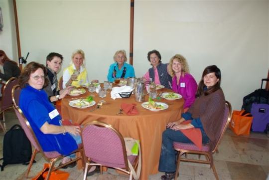folks around a table